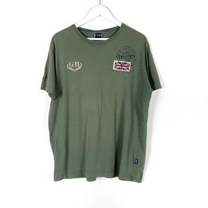 Triumph Motorcycles Men's Army Green Tee Large